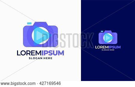 Modern Camera Photography Logo Icon Vector Template