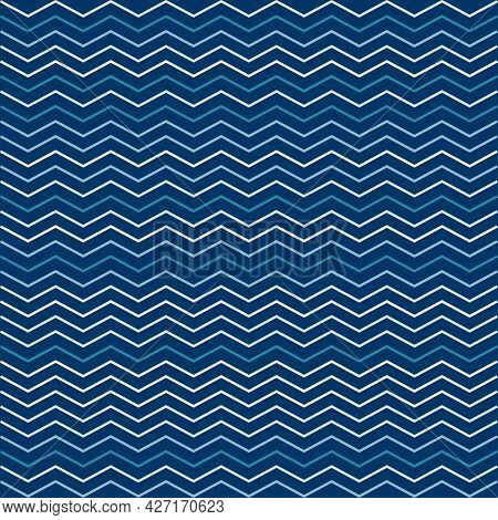 Seamless Lines Vibrant Contrast Blue And White Pattern Vector Background