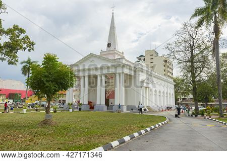 Penang, Malaysia - February 14,2019 : St. George\'s Anglican Church In Penang, Malaysia On February