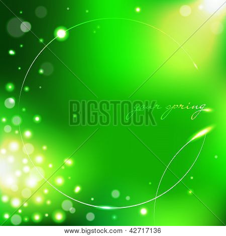 Spring green background