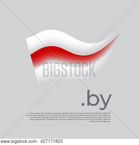 Belarus Flag. Stripes Colors Of The Belarusian Flag On A White Background. Vector Stylized Design Na
