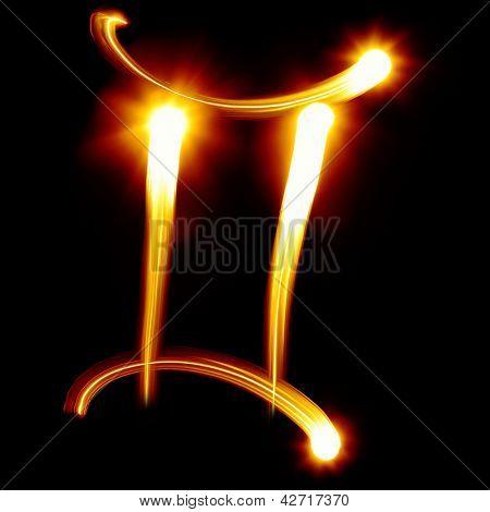 Gemini. Zodiac signs collection