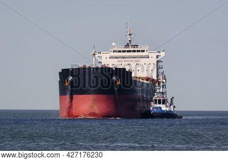 Maritime Transport - Merchant Vessel Sail On Waterway