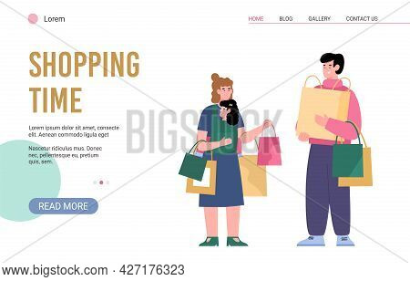 Web Banner For Advertising Seasonal Sales, Holiday Discounts At Stores And Malls