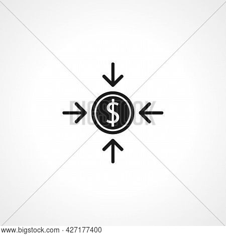 Asset Icon. Dollar Isolated Simple Vector Icon.