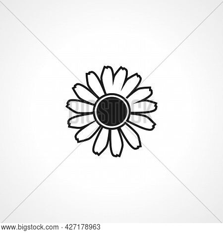 Chamomile Flower Icon. Chamomile Flower Isolated Simple Vector Icon.