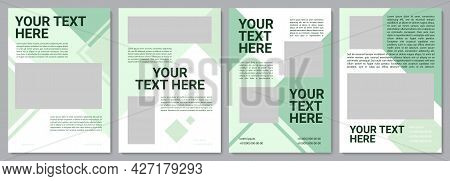 Ecology Awareness Campaign Brochure Template. Flyer, Booklet, Leaflet Print, Cover Design With Copy