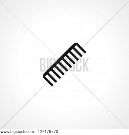 Hair Comb Icon. Hair Comb Isolated Simple Vector Icon.