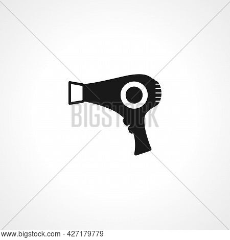 Blow Dryer Icon. Hairdryer Isolated Simple Vector Icon.