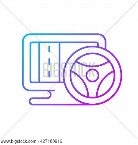 Vehicle Simulation Gradient Linear Vector Icon. Players Feels Like Controlling Different Real Automo