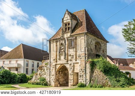 View At The Old Gate The Porte De Comte In Auxonne - France.