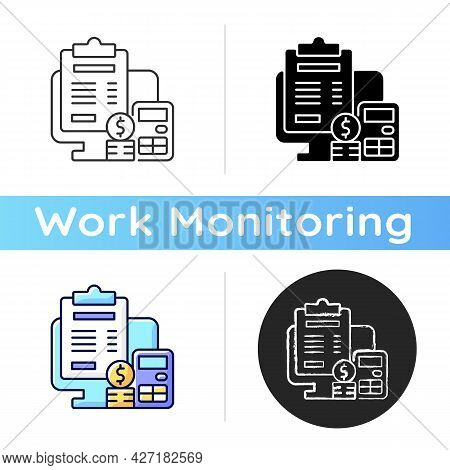 Invoicing Icon. Cost Management For Business. Financial Document. Professional Accounting Service. W