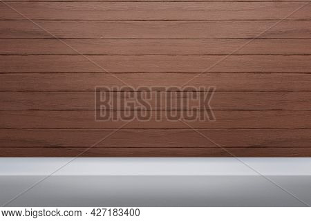 Wooden product backdrop with blank space