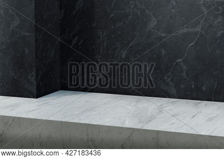 Marble product backdrop with blank space