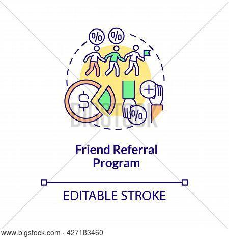 Friend Referral Program Concept Icon. Internship Programs Financing Abstract Idea Thin Line Illustra