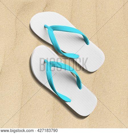 Summer white flip-flop shoes women's apparel