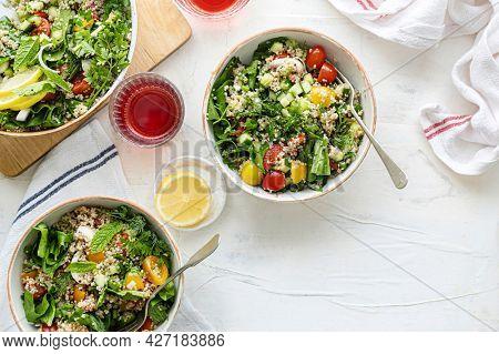 Veggie quinoa bowl cooking recipe
