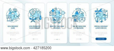 Eco-friendly Advantages Onboarding Mobile App Page Screen. Electric Vehicle Service Walkthrough 5 St