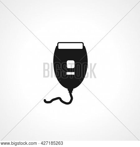Electric Shaver Icon. Electric Shaver Isolated Simple Vector Icon.