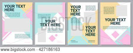 Kindergarten Service Brochure Template. Flyer, Booklet, Leaflet Print, Cover Design With Copy Space.
