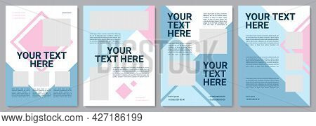 Pastel Multicolor Brochure Template. Business Production. Flyer, Booklet, Leaflet Print, Cover Desig