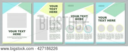 Business Statistic Brochure Template. Flyer, Booklet, Leaflet Print, Cover Design With Copy Space. Y