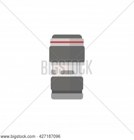 Camera Lens Clipart. Camera Lens Isolated Simple Flat Vector Clipart