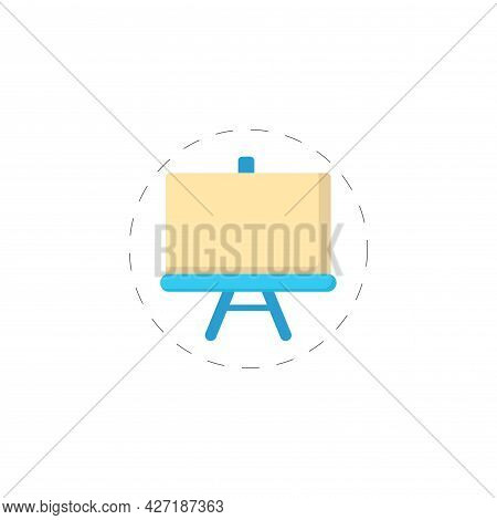 Canvas Clipart. Canvas Isolated Simple Flat Vector Clipart