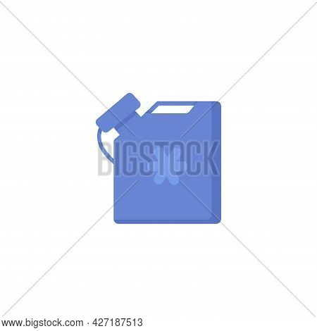 Antifreeze Jerrycan Clipart. Antifreeze Jerrycan Isolated Simple Flat Vector Clipart