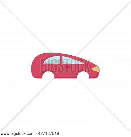 Car Body Clipart. Car Body Isolated Simple Flat Vector Clipart