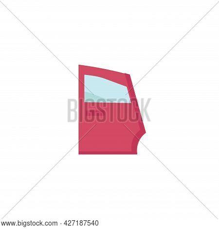 Car Door Clipart. Car Door Isolated Simple Flat Vector Clipart