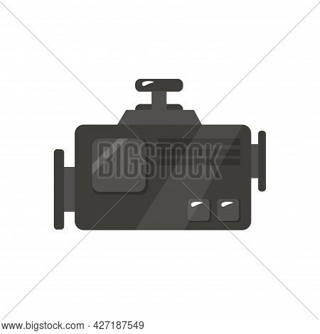 Engine Clipart. Engine Isolated Simple Flat Vector Clipart