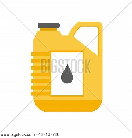 Petrol Cancanister Clipart. Petrol Cancanister Isolated Simple Flat Vector Clipart