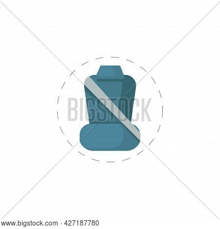 Car Seat With Seat Belts Clipart. Car Seat With Seat Belts Isolated Simple Flat Vector Clipart