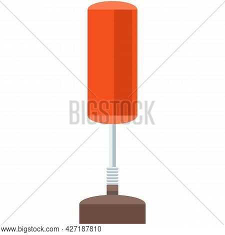 Boxing Punch Bag On Stand Isolated Gym Equipment Icon