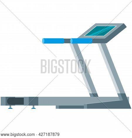 Treadmill Vector Illustration Icon Sport Gym Equipment