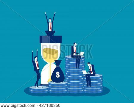 People With Working Return On Investment. Investing Plans Concept