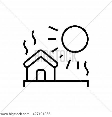 Global Warming Icon. Nature Disaster Vector Illustration.