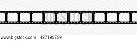 Film Strip. Reel Of Tape For Movie, Photo And Camera. Filmstrip With Frame For Cinema And Video. Old