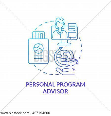 Personal Program Advisor Concept Icon. Internship Program Abstract Idea Thin Line Illustration. Assi