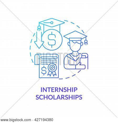 Internship Scholarships Concept Icon. Internship Financing Abstract Idea Thin Line Illustration. Gra