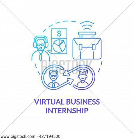 Virtual Business Internship Concept Icon. Top Remote Internship Area Abstract Idea Thin Line Illustr