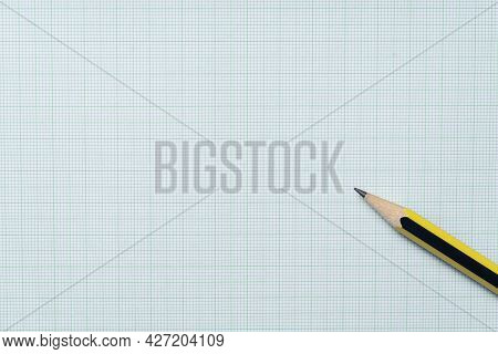 Pencils On Green Graph Paper, Study Research Science And Education Concept