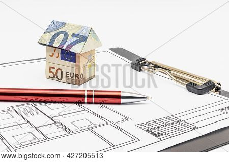 Purchase And Sale Of Housing. Mortgage For The Purchase Of A House. Rental Property. House Made Of E