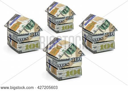 Purchase And Sale Of Housing. Mortgage For The Purchase Of A House. Rental Property. Houses Folded F