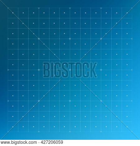 Hud Screen Grid. Futuristic Background, Science Tech Display, Virtual Dashboard Pattern, Square Tech
