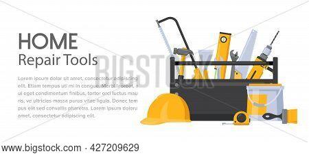 Repair Tools, Handyman Toolbox With Builder Professional Fix Equipment, Home Renovation