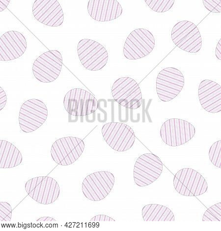 Easter Eggs Seamless Pattern. Holiday Background - Delicate Design. Vector Illustration
