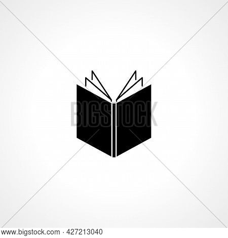 Book Icon. Open Book Isolated Simple Vector Icon.