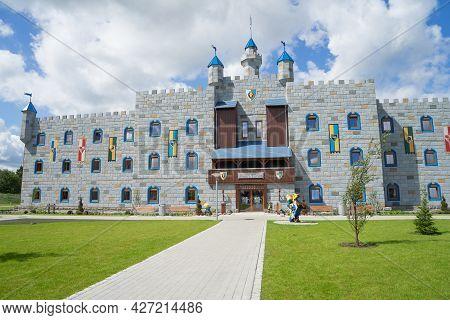 Billund / Denmark - June 09: Legoland Castle Hotel, Billund, Denmark. Copy Space.